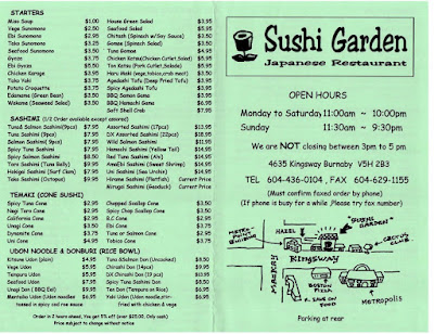 Be A Smart Vancouverite Sushi Garden