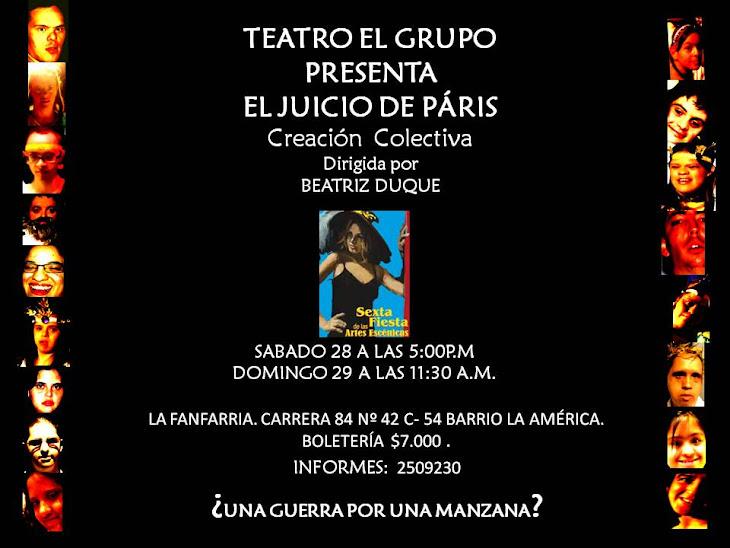 TEATRO EL GRUPO EN LA SEXTA FIESTA DE LAS ARTES ESCÉNICAS