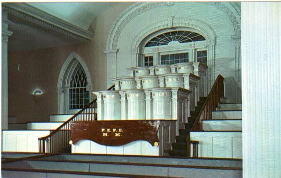the trumpet stone  lds temple assembly halls