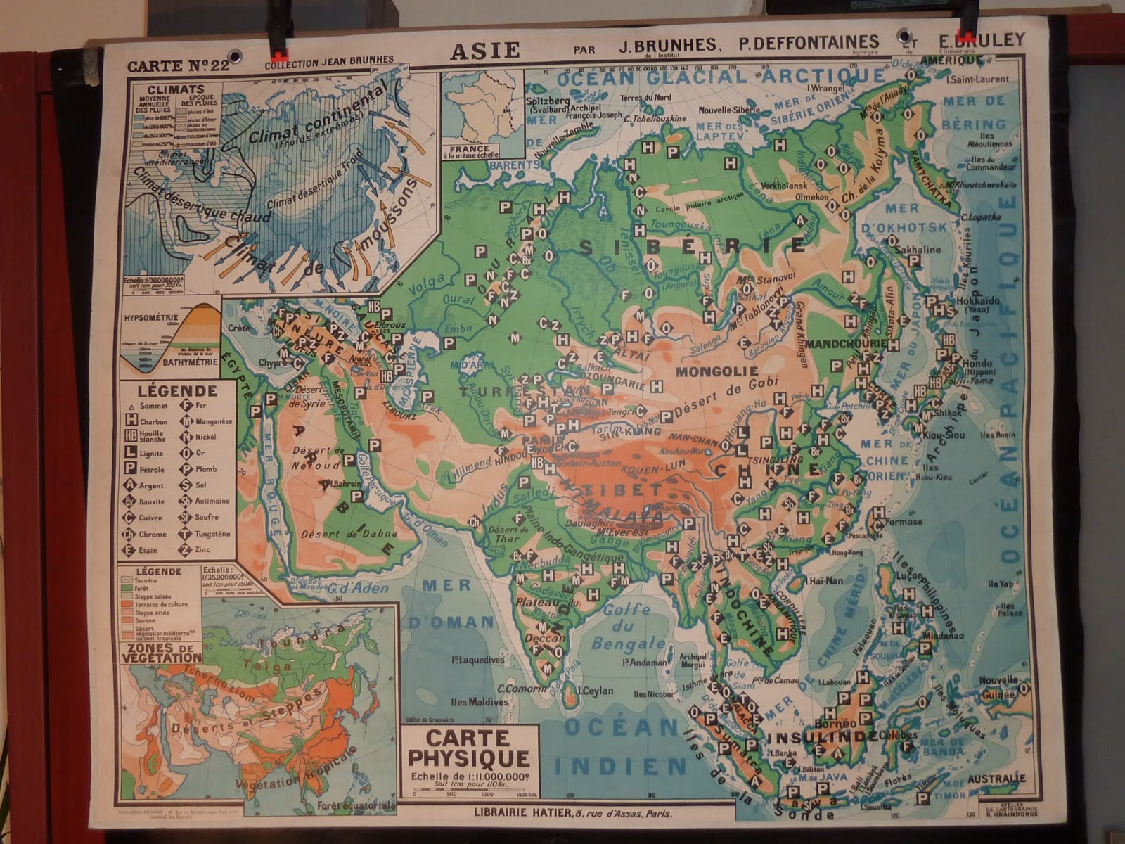 Vintage french posters botany animals anatomy old world maps from french map asia 1950s sold gumiabroncs Gallery