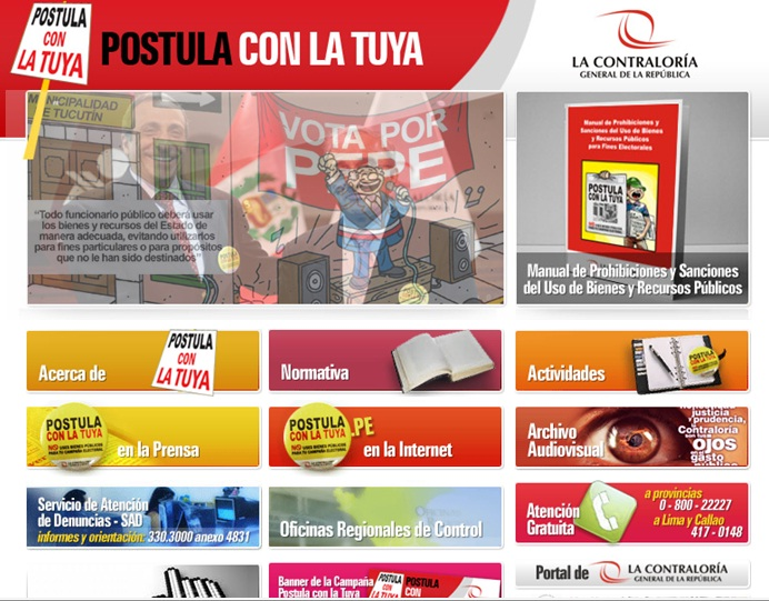 Voz peruana manual de prohibiciones y sanciones al uso de for Oficina virtual entidades locales