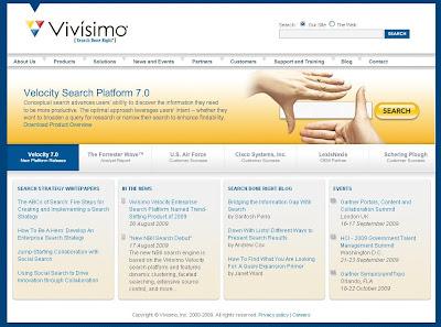 Главная страница поисковика Vivisimo