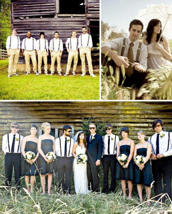 Wedding Party Gifts For Groom : bridal-fashion-for-grooms-trends-suspenders-outdoor-wedding-groomsmen ...