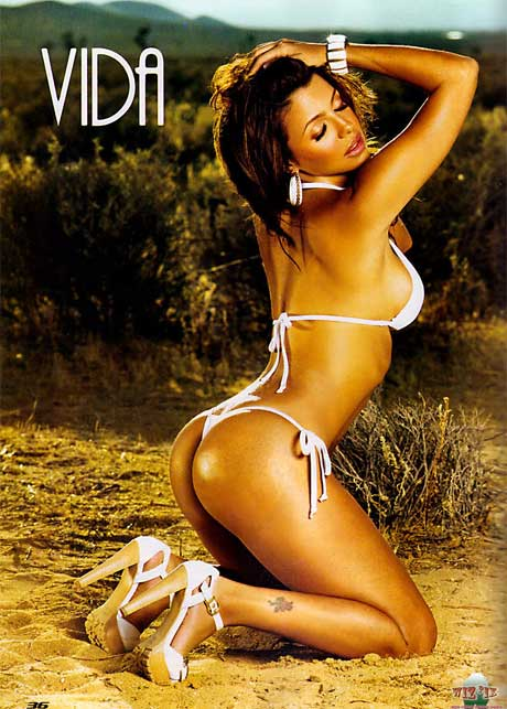 Vida-Guerra-in-bikini show off her ass Black Men Magazine October 2009