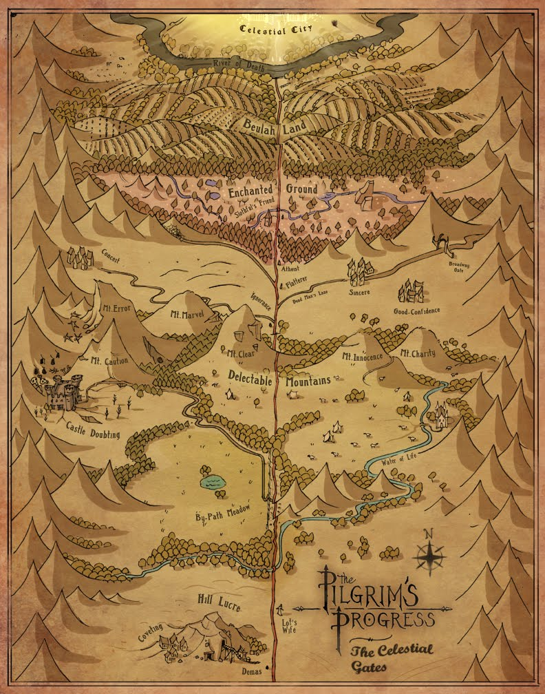 Garrett Taylor Portfolio Pilgrims Progress Maps