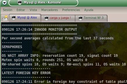 Carga y juega mysql error 1005 hy000 can 39 t create for 1005 can t create table