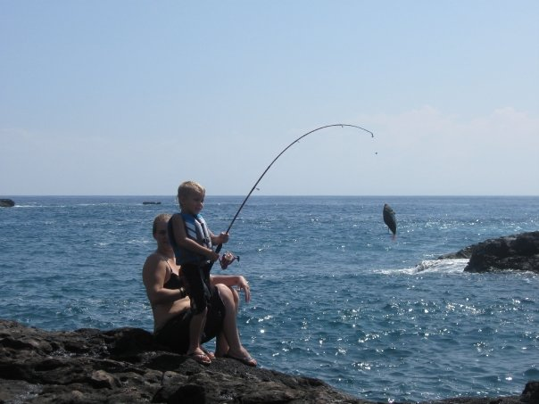 Maui fishing charters today 39 s fresh catch shore fishing for Shore fishing maui