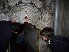 Visiting the tomb at the Church of the Holy Sepulchre in Jerusalem