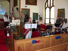 Praise team prepared for worship