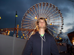 Josh with halo at the end of a busy day at the beach