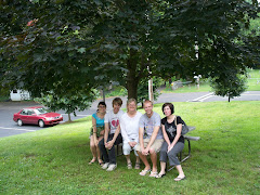 Catching a little shade under the tree planted in memory of Poppop on the Old Bensalem grounds