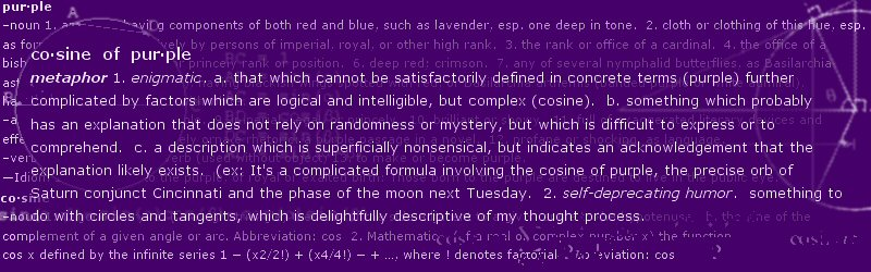 Cosine of Purple