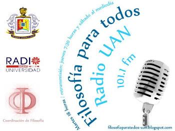 Filosofía para Todos en Radio UAN 101.1 FM