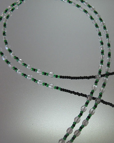 Green Beaded Lanyard