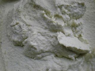 it looks like cement, but it doesn't taste like cement.