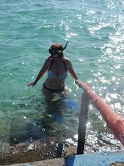 The expert snorkeler!!
