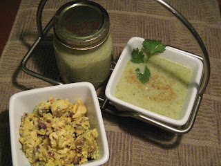 Curried Chicken and Rice Salad and Broccoli and Apple Soup