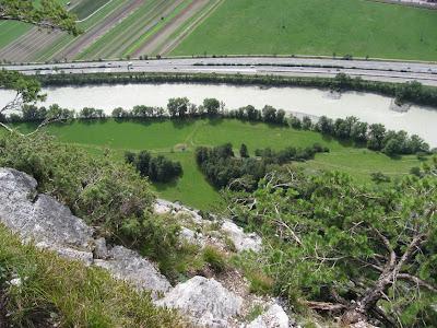 Aussicht vom Martinswand Klettersteig