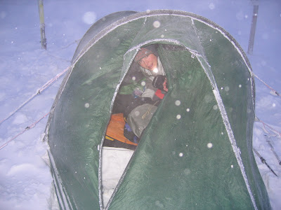 Zelten am Gipfel des Monte Roén