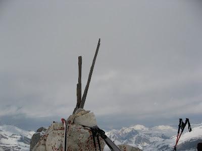 Gipfelaufbau Monte Cavallo / Dolomiten