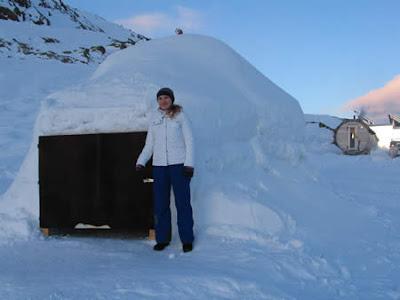 Iglu Übernachtung Schoene Aussicht Suedtirol / auf 2800m