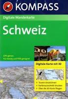 Digitale Karte Schweiz von Kompass