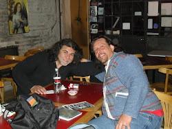 Enrique Sandri junto a Jorge Figueroa
