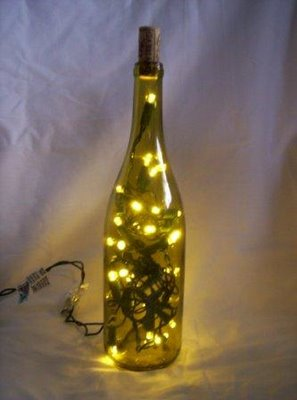 Wine Bottles Light Create Ideas : ... bottles or other glass containers with christmas lights bottles