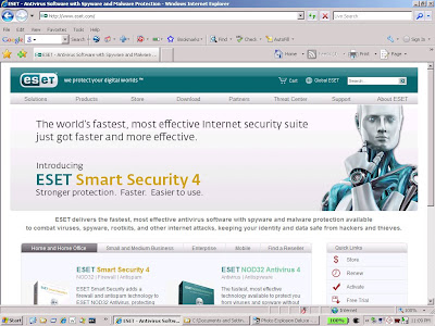 ESET provides online antivirus scanning for the small businessman
