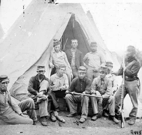 Soldiers relaxing in front of a Silbey Tent  sc 1 st  USMRR Aquia Line and other Model Railroad Adventures & USMRR Aquia Line and other Model Railroad Adventures: Tenting Tonight