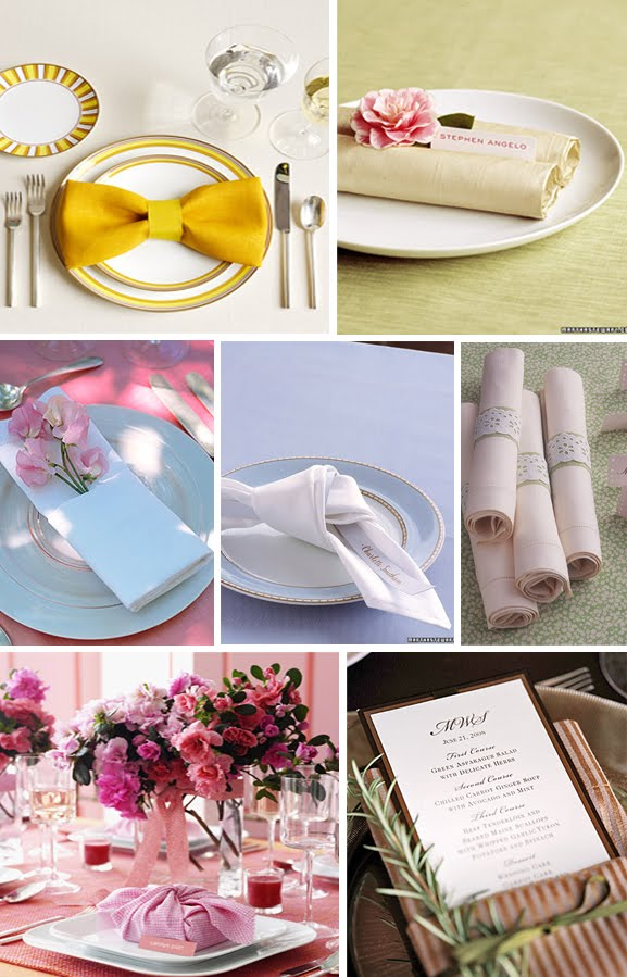 Sophies Favors Blog Beautiful Napkin Folding Ideas