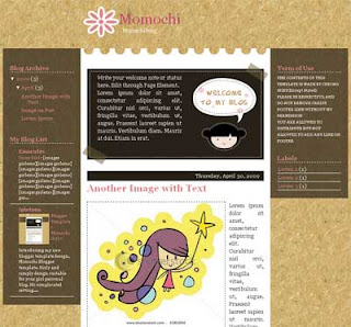 Momochi Blogger Template