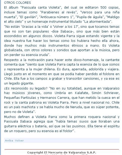 """""""da parte entrevista el mercurio"""
