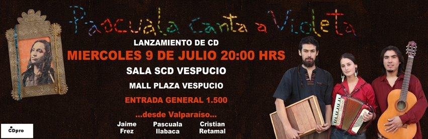 Lanzamiento del CD Pascuala canta a Violeta