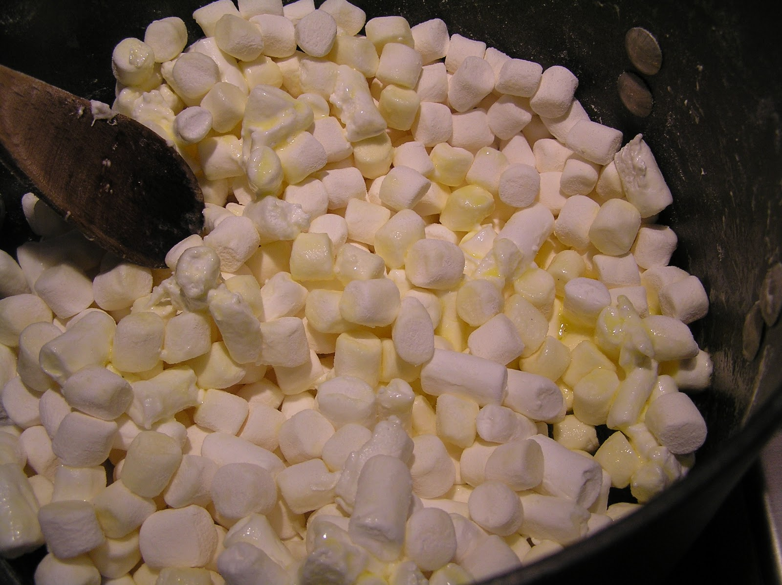 Fresh marshmallows used in krispie treats