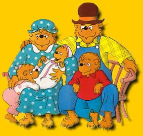Berenstain Bears Cartoon Family