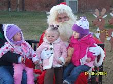 Finlee, Bree & Adyson w/Santa
