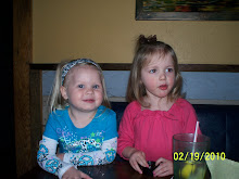 Aubree and Finlee at supper