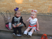 Finlee & Bree having some Halloween candy