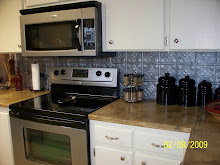 My kitchen(check out the tin backsplash I love!)