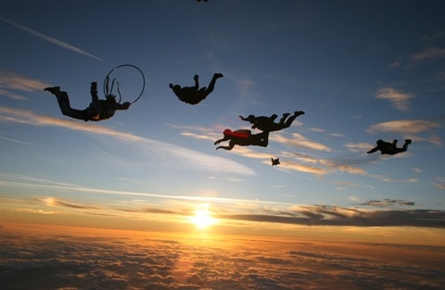 year is to GO SKY DIVING