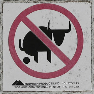 no bulls funny sign