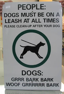 funny signs for dogs