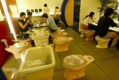 weird japanese funny toilet restaurant