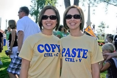 funny tshirts copy and paste twins