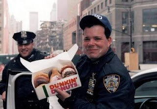 cops with dunkin donuts smiling