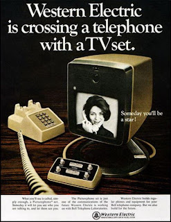 funny western electric tv phone future advert