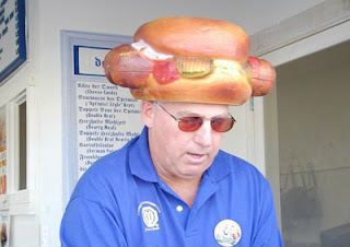 funny hat photo hot dog guy weird