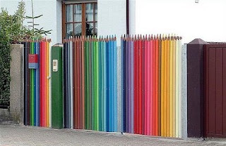 funny picture pencil fence colored