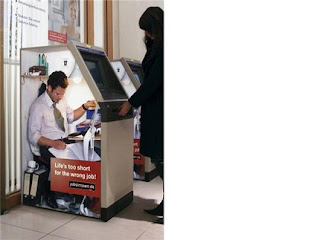 funny atm photo man inside machine dispensing cash money